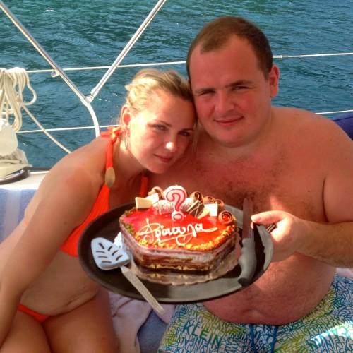 Russians enjoy a Birthday Day Charter