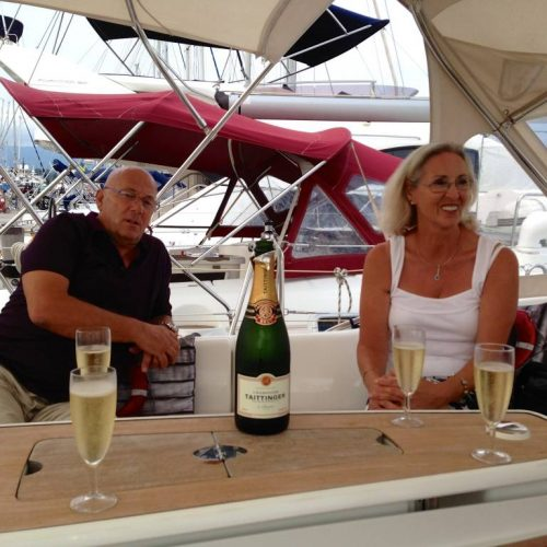 Champagne aboard Icarus