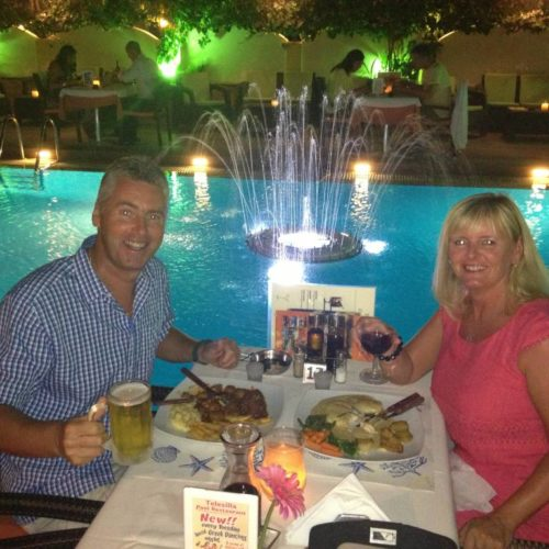 meal at the Telesilla Restaurant