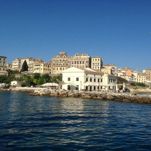Faliraki, Corfu Town from the Sea