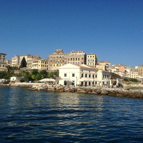 Faliraki, Corfu Town from the Sea