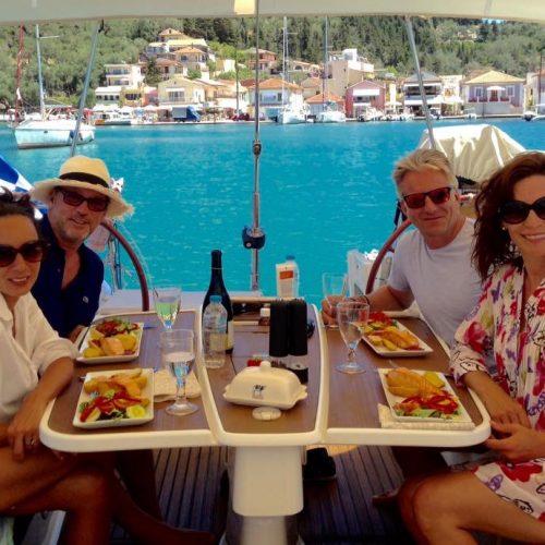 Lunch at anchor in Lakka Bay,